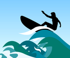 Surfer Waves Vector