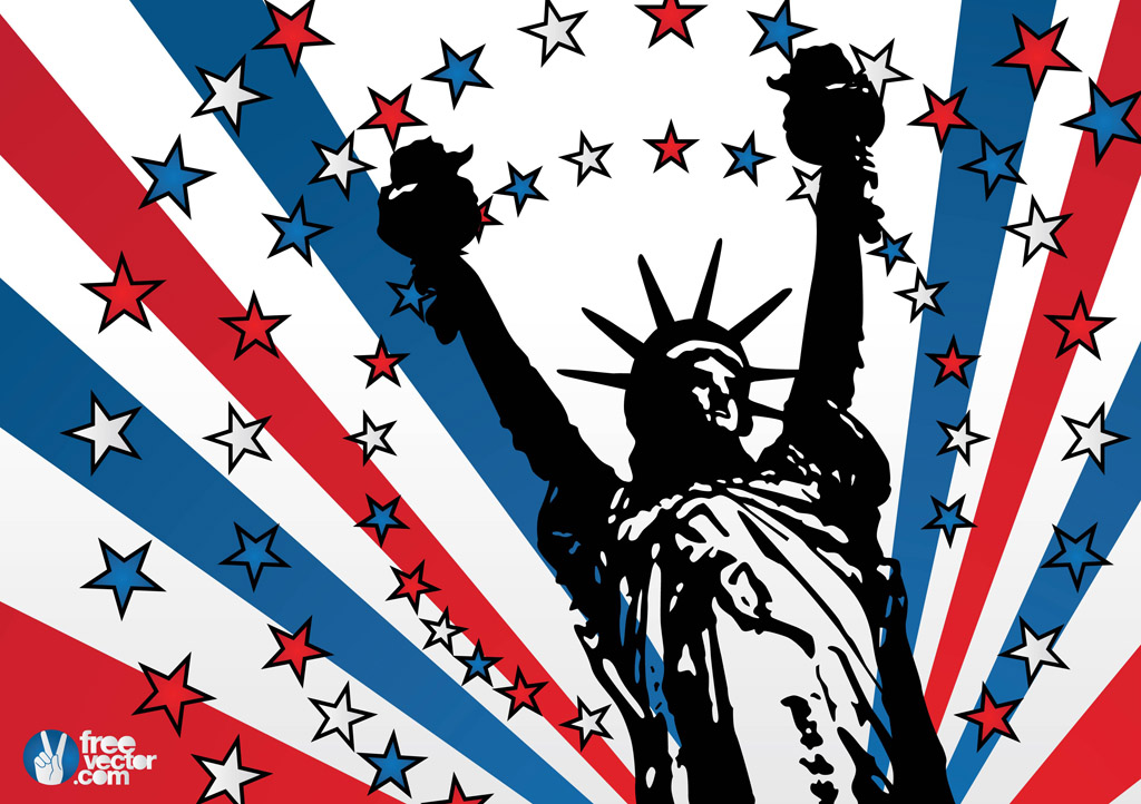 Usa Liberty Vector Vector Art Graphics Freevectorcom - Free united states vector