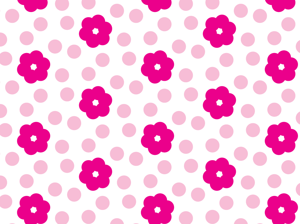 Pink Flower Pattern Vector Art & Graphics | freevector.com