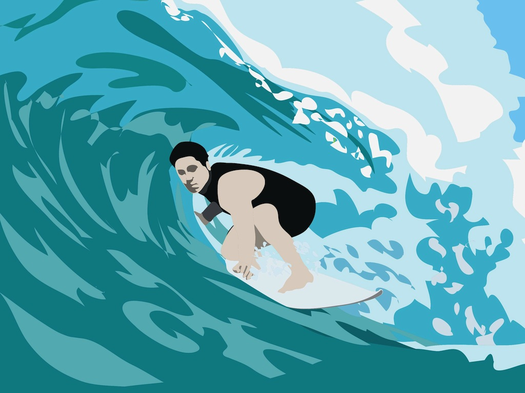 Surfer Illustration
