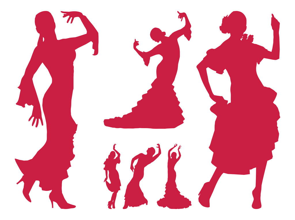 flamenco dancer silhouettes vector art graphics freevector com rh freevector com free vector artwork free vector art software