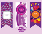 Purple Vector Banners