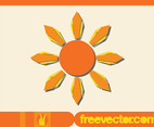 Sun Icon Vector Graphics