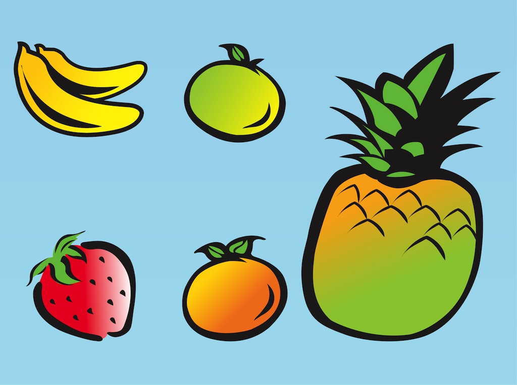 Fruit Drawings