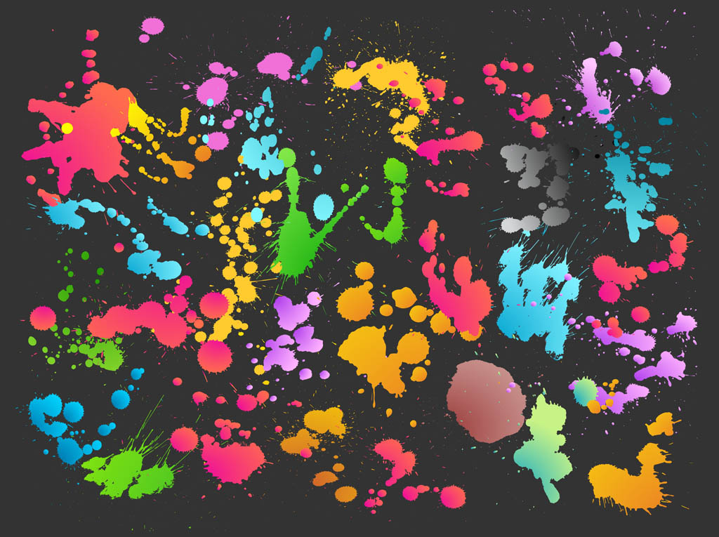 Colorful Splatter Vector