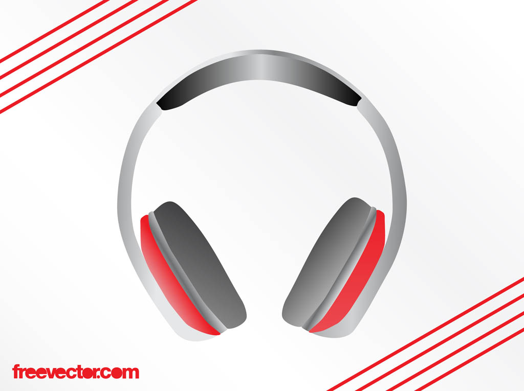 Headphones Vector Graphics