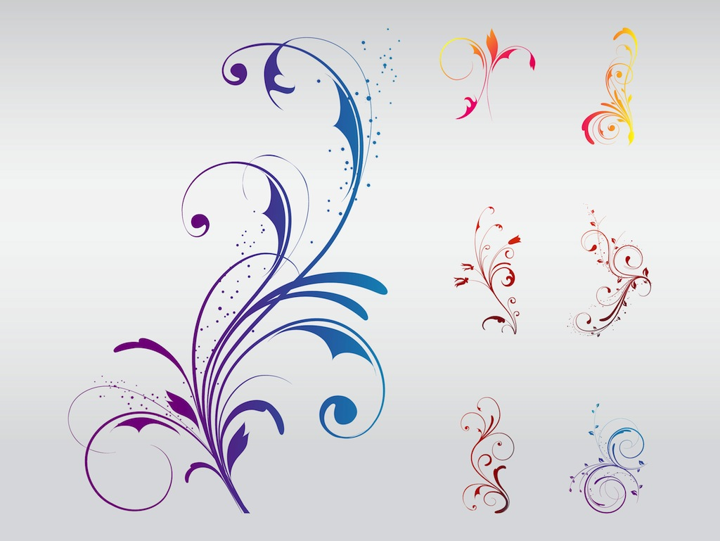 Swirly Floral Designs