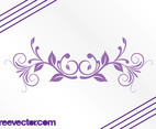 Purple Floral Swirl Vector