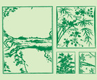 Japanese Trees Vector