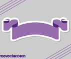 Purple Ribbon Sticker