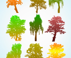 Colorful Tree Silhouette Graphics