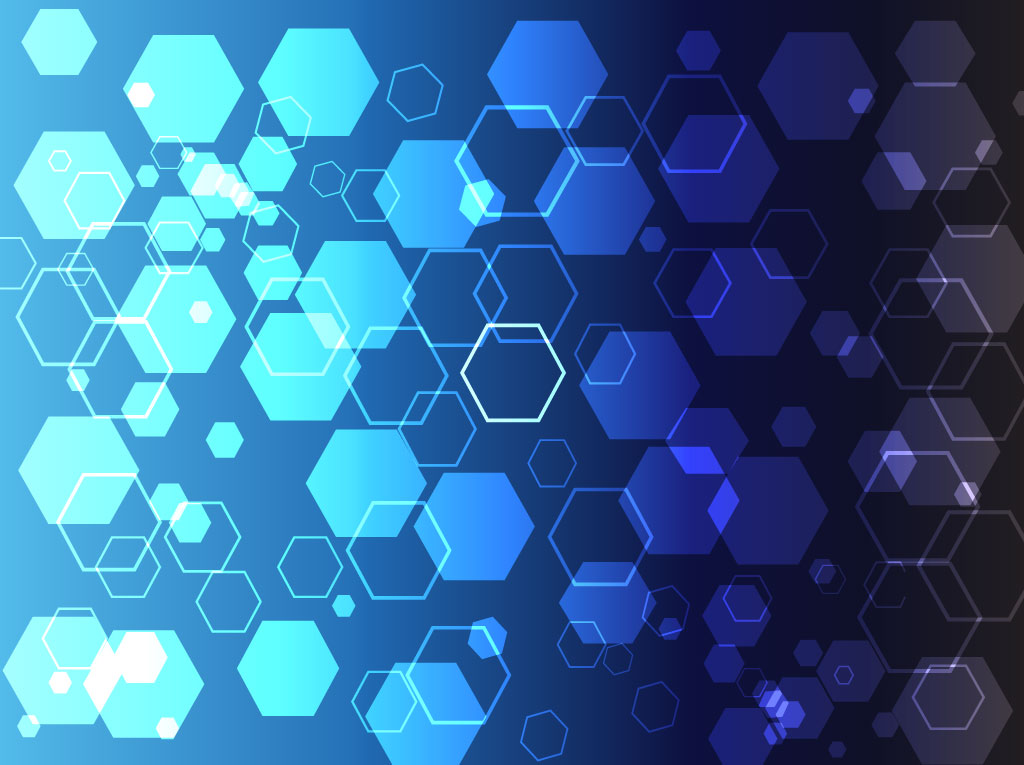 Blue Hexagon Theme