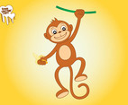 Monkey With Banana Graphics