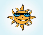 Vector Cartoon Sun
