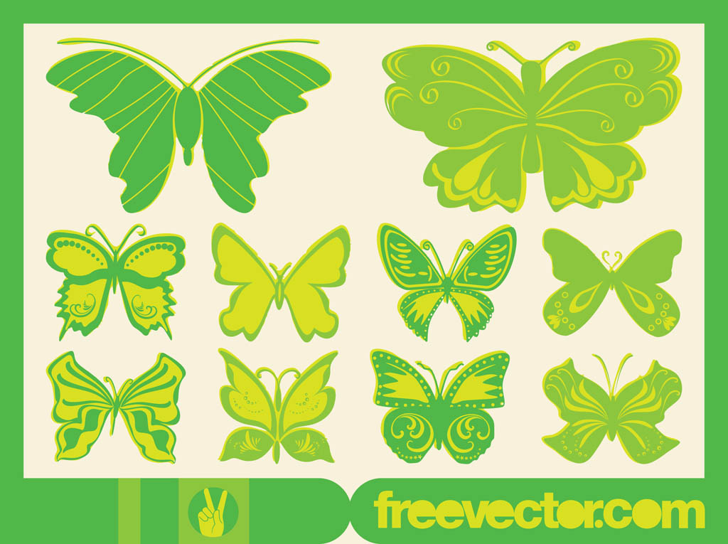 Vector Butterflies Graphics