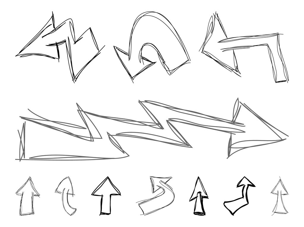 Doodled Arrows