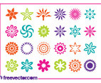 Flower Blossoms Icons Set