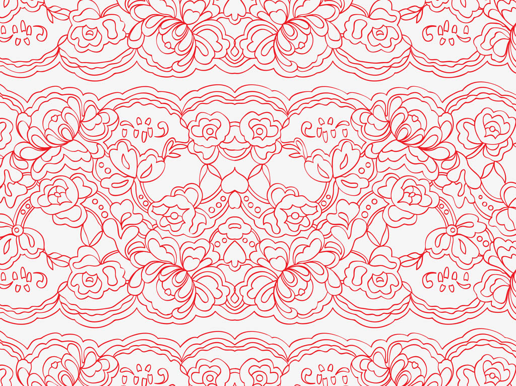 Simple lace patterns clipart - photo#6