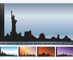 Cityscapes Vector Cards
