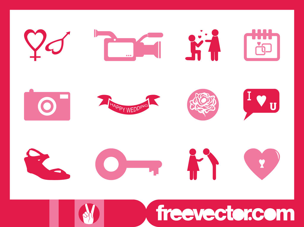 Wedding Icons Graphics