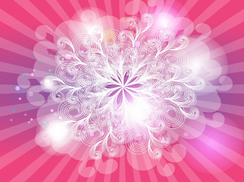 Free Pink Background with Swirls Vector Design | 123Freevectors