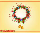 Christmas Wreath Vector Art
