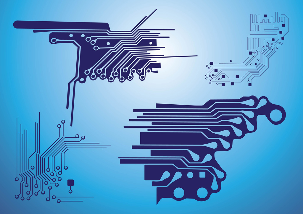 Circuit Vector Wallpaper Electronic Circuit