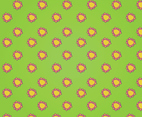Green and Pink Flower Vector Pattern