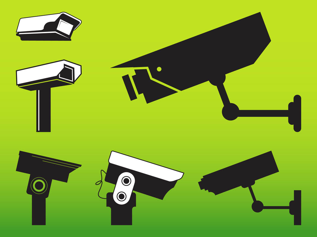 Security Cameras Graphics Vector Art & Graphics