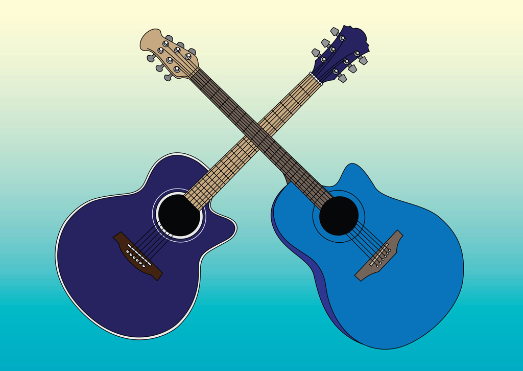 Acoustic Guitars Vectors