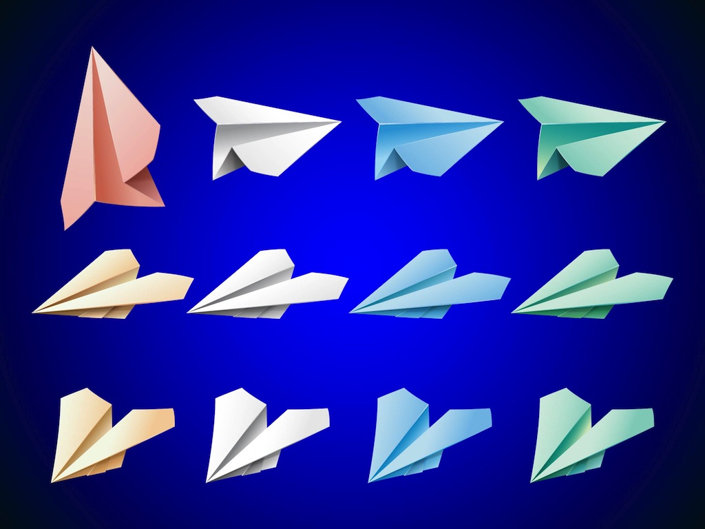 Colorful Paper Planes Vector Art & Graphics | freevector.com - photo#20