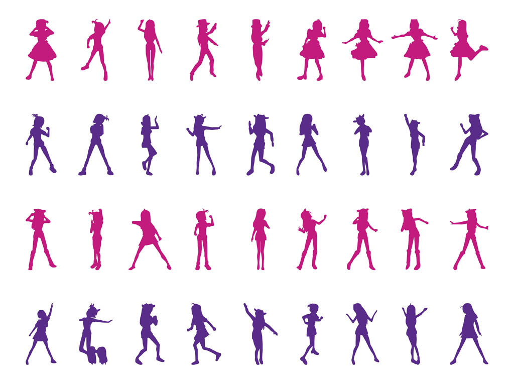 dancing girl silhouette - photo #24
