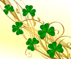 Golden Clover Background Vector