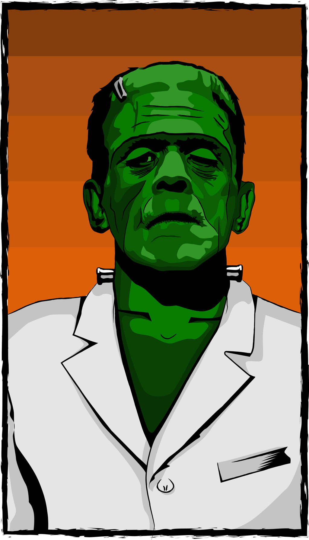 Frankenstein Poster Vector Art & Graphics | freevector.com