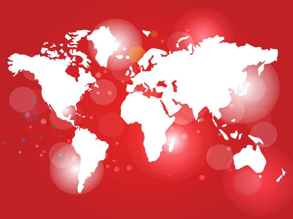 Red world map vector vector art graphics freevector red world map vector gumiabroncs Gallery