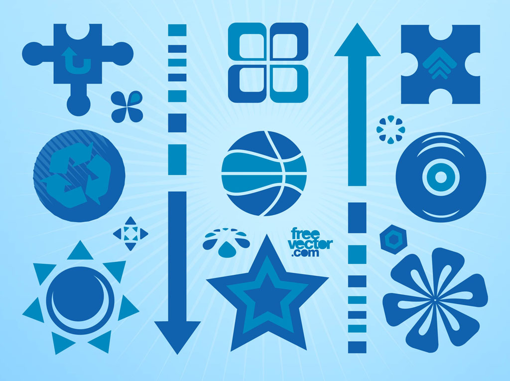 Blue Icons Collection