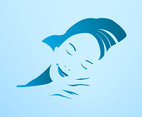 Sleeping Woman Vector