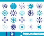 Snowflakes Graphics Set