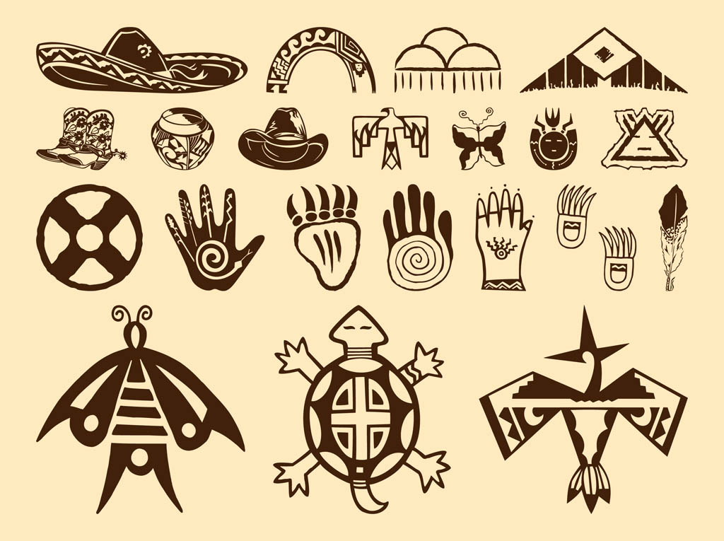 native american symbols vector art graphics. Black Bedroom Furniture Sets. Home Design Ideas