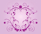 Purple Vector Flourishes