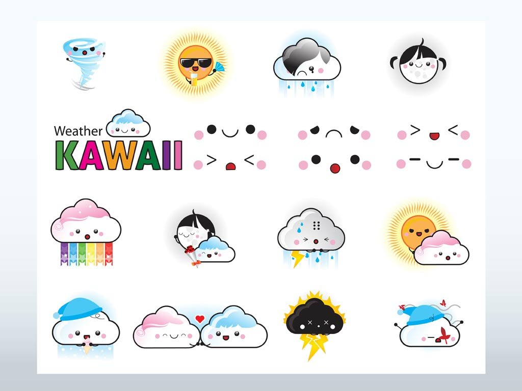 Character Design From The Ground Up Pdf Free Download : Kawaii weather vectors vector art graphics freevector