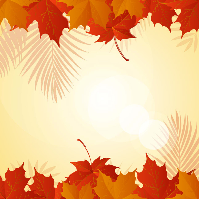 Free Vector Fall Leaves Background