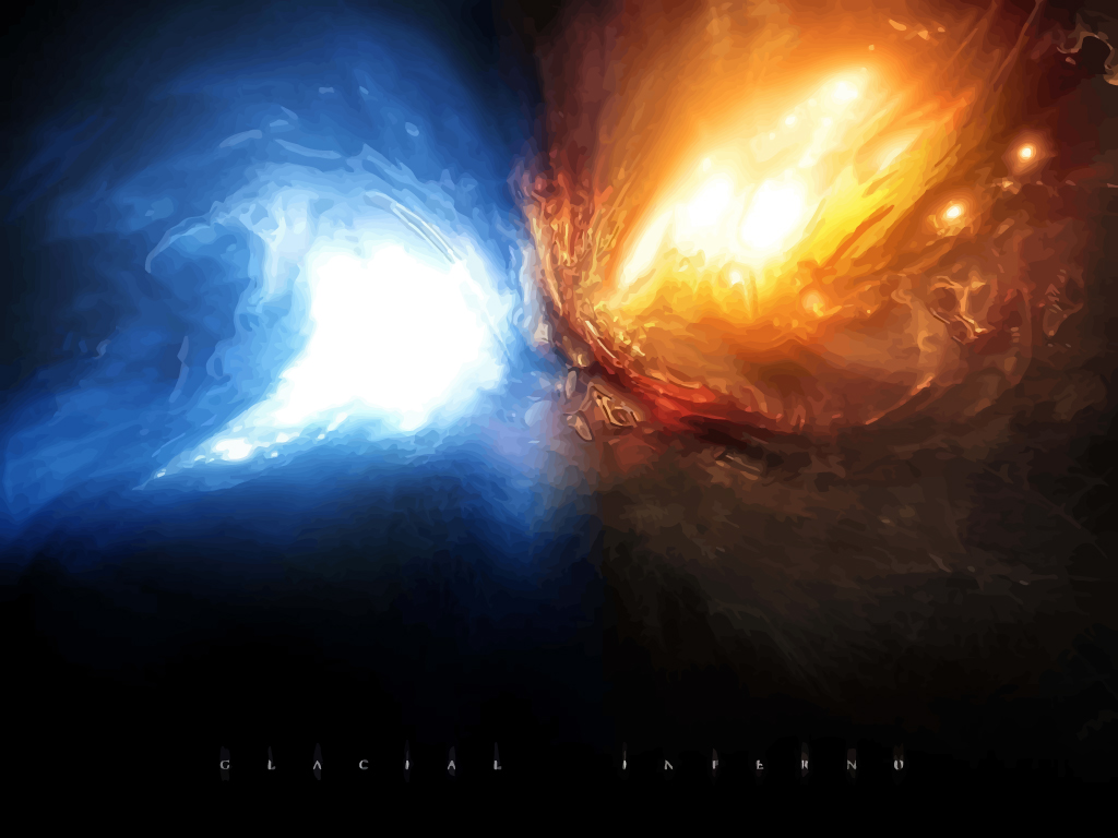 Glacial Fire Explosion Vector Art Graphics Freevector Com