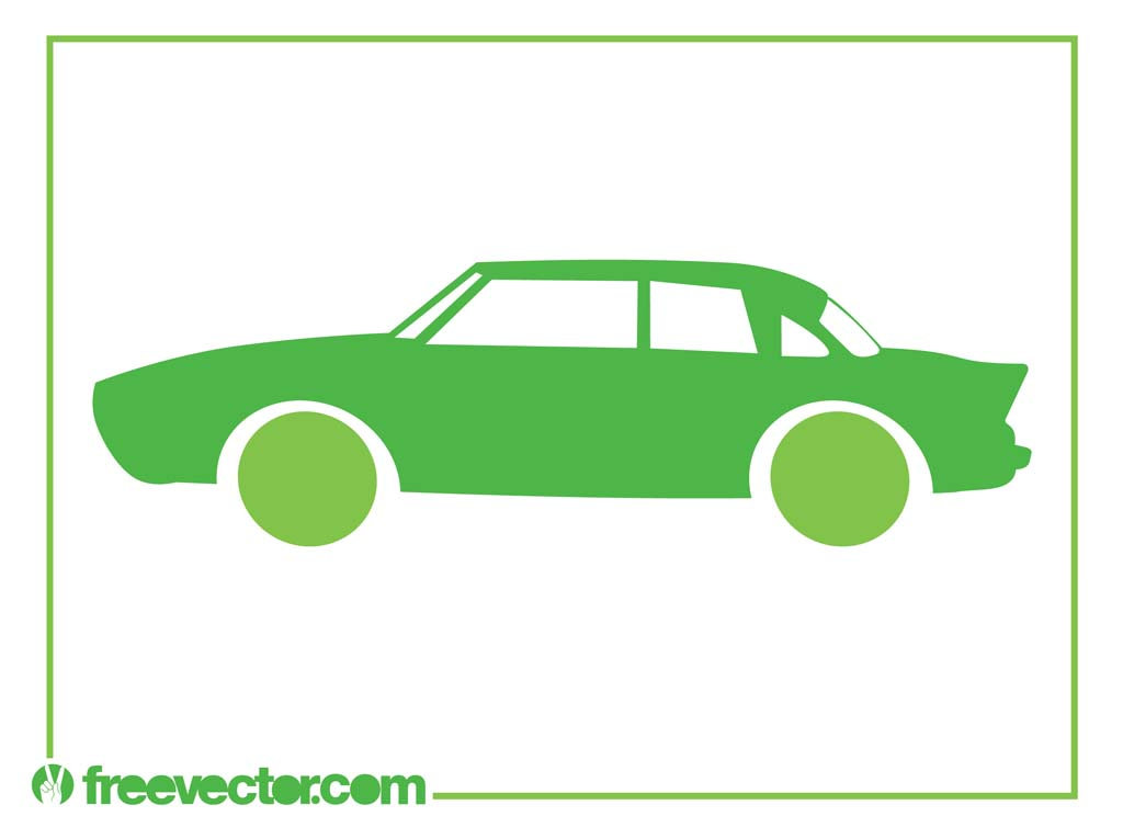 Green Car Icon Green Retro Car Icon