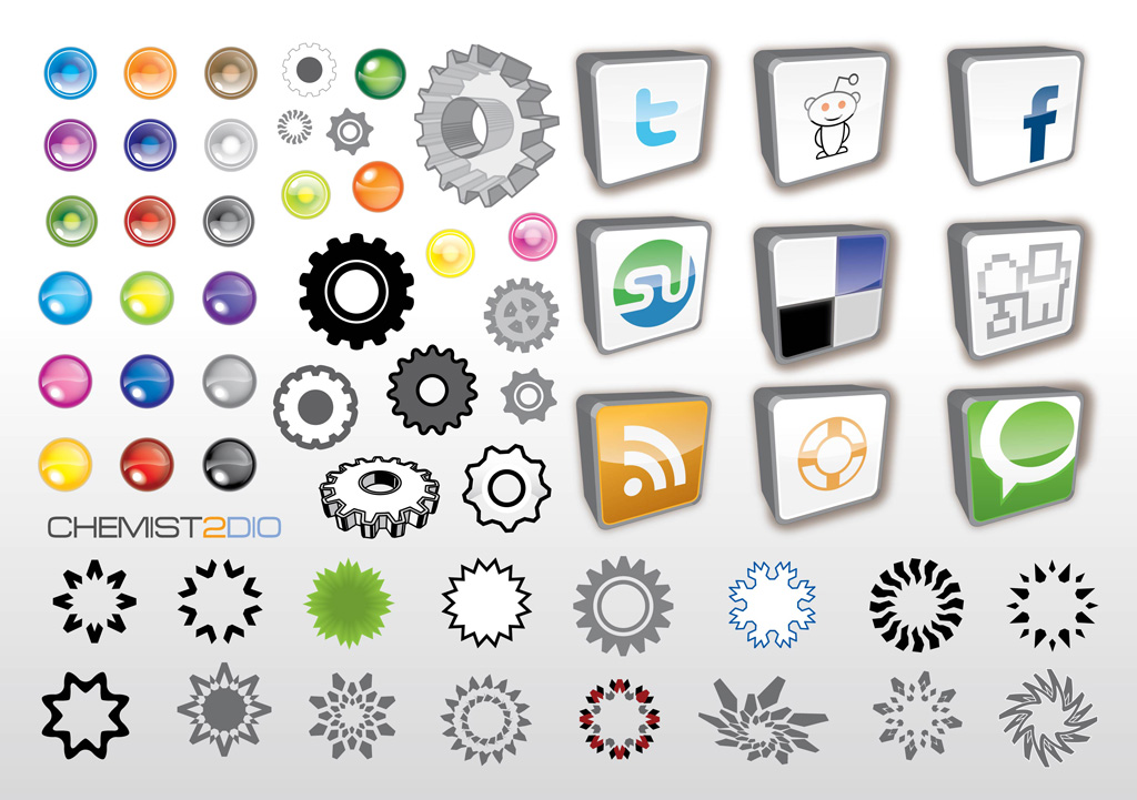 Social Web Vector Icons