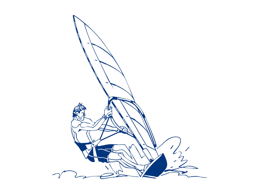 Windsurfing Man Design