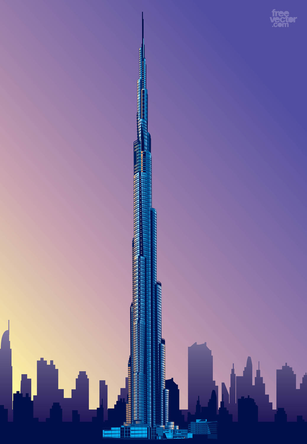Nice Home Offices Burj Khalifa Vector Art Amp Graphics Freevector Com