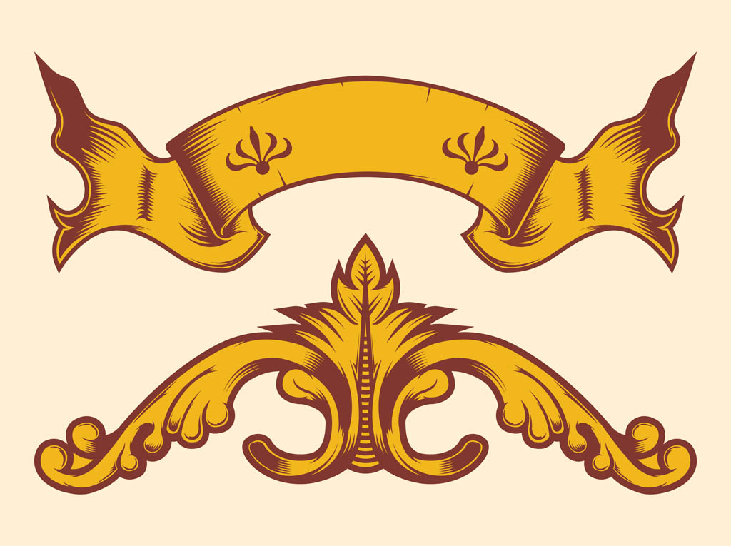 vintage banner decorations vector art & graphics | freevector