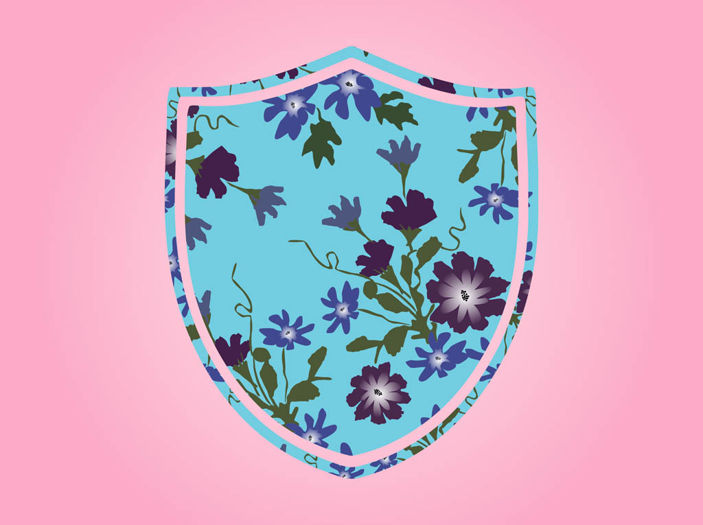Shield With Flowers