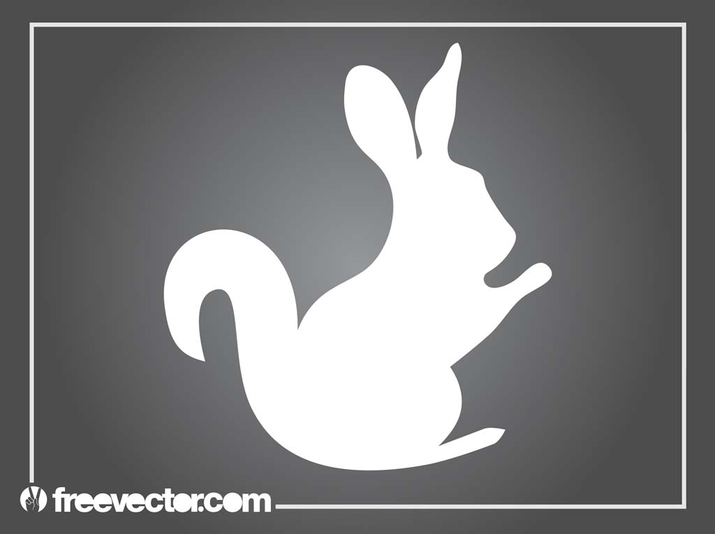 Vector Bunny Stylized Silhouette